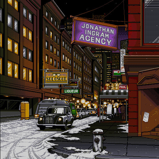 Even with dithering, the pixel art in computer games like Policenauts is ...