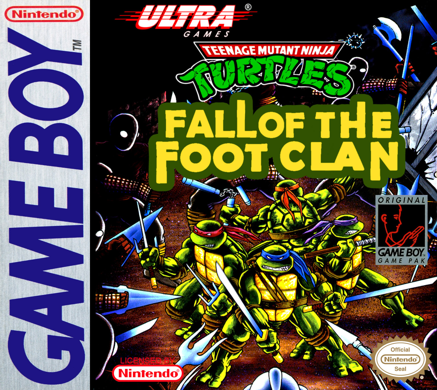 TMNT: Fall of the Foot Clan box art