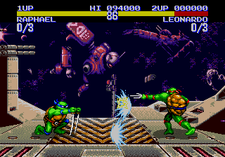 Teenage Mutant Ninja Turtles: Tournament Fighters (Genesis